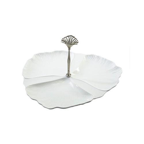 اردو خوری 3تکه سرامیکی سایز بزرگ سفید B.V.K