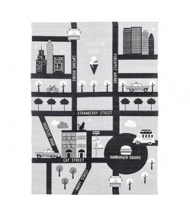 قالیچه نخی طوسی مشکی H&M