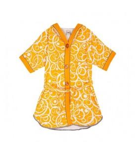 حوله تن پوش نارنجی برند زمرد