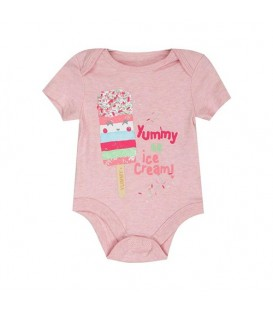 بادی نوزادی دخترانه صورتی F&F
