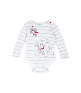بادی نخی نوزادی پسرانه طوسی سفید F&F