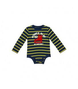 بادی نخی نوزادی پسرانه سرمه ای زرد Joe Fresh