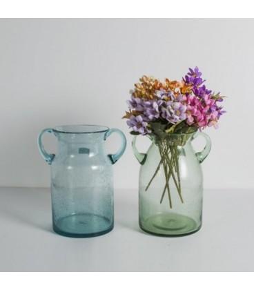 گلدان شیشه ایی دسته دار کد 154
