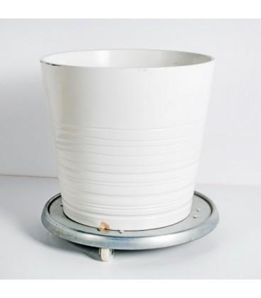 سطل فلزی سفید کد 155