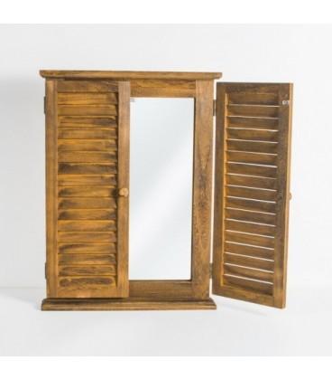 آینه چوبی مدل پنجره ایی کد 160