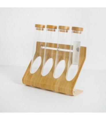 جا ادویه ایی شیشه ایی و چوبی کد 185