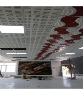 پنل پلکسی سقفی طرح موج تایل های pvc