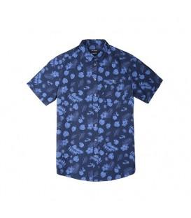 پیراهن آستینکوتاه گلگلی مردانه سرمهای Top Secret