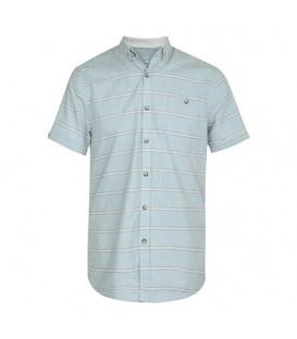 پیراهن راهراه مردانه سبزآبی F&F