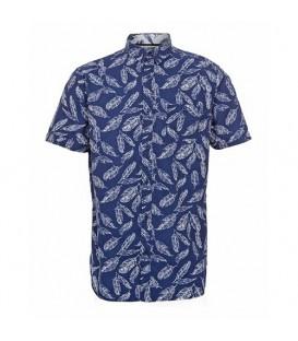 پیراهن آستین کوتاه مردانه سرمهای Top Secret
