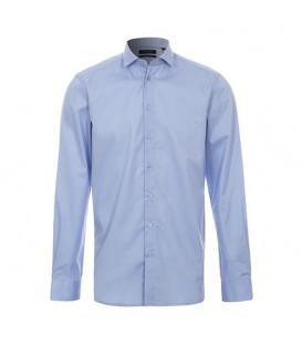 پیراهن نخی مردانه آبی Top Secret