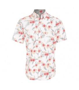 پیراهن مردانه سفید قرمز Marks & Spencer