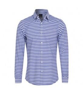 پیراهن مردانه راهراه سفید بنفش Reserved