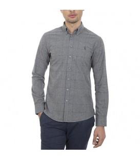 پیراهن مردانه خاکستری چهارخانه Roni