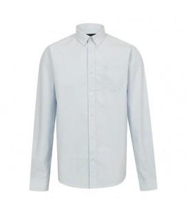 پیراهن مردانه سفید آبی راهراه Greystone