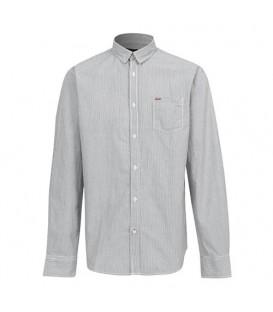 پیراهن مردانه مشکی سفید راهراه Greystone