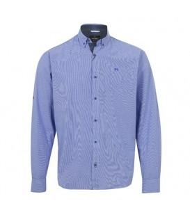 پیراهن مردانه آبی چهارخانه ریز Arma