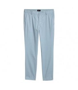 شلوار مردانه کتان طوسی آبی H&M