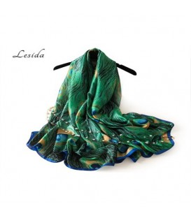 روسری طرح طاووس زنانه کد21