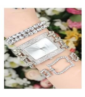 ست ساعت و دستبند زنانه کد BSK5646