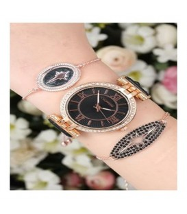 ست ساعت و دستبند زنانه کد BSK5591