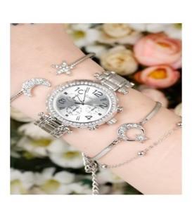 ست ساعت و دستبند زنانه کد BSK5444