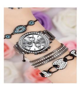ست ساعت و دستبند زنانه کدBSK5278